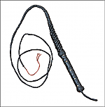 Indiana Jones style Leather Bullwhip - 8 feet