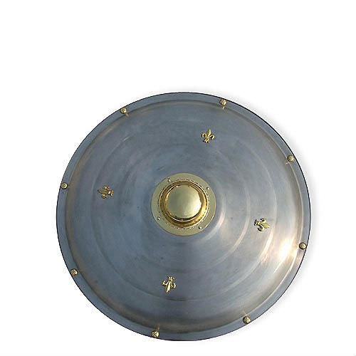 """Classic Round Medieval Metal Shield 26 3/4"""""""