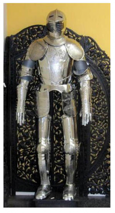 """Etched Medieval Suit of Armor 80"""""""