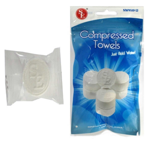 12- Non Woven Disposable Compressed Towels NW9510-12