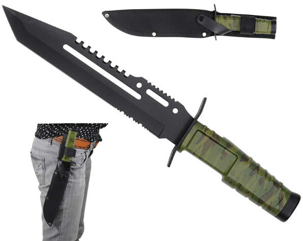 13 in Combat Hunting Knife HK7772A
