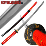Red Dragon Tsuba and Scabbard Katana - 40""