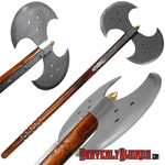 Double Blade Carbon Steel Medieval Axe 31 3/4""