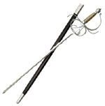 King Rapier Sword Comes With Scabbard 45""