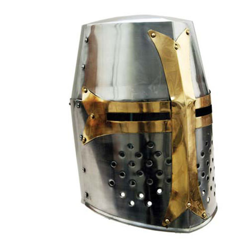 Brass Crusader Great Helmet