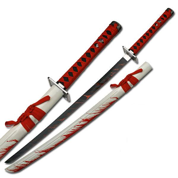 BLOOD Splatter Fantasy Sword SW585W