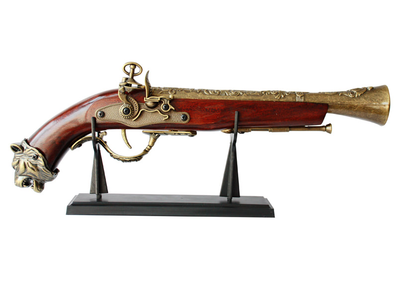 Decorative Antique Pirate Musketoon with Stand