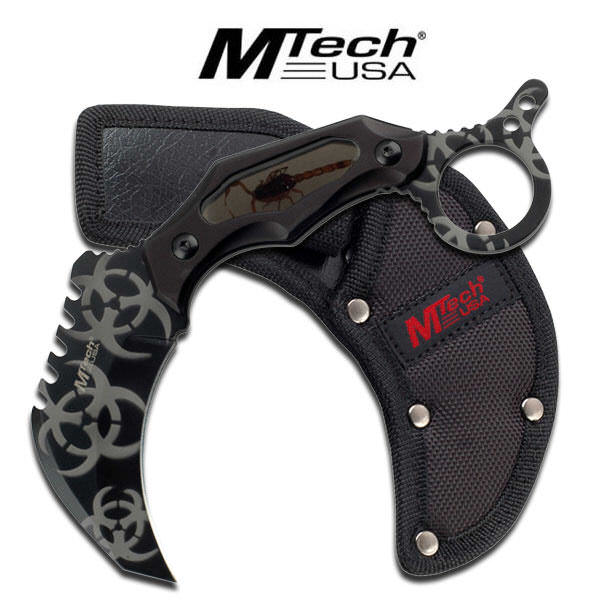M-Tech ZOMBIE Fixed Blade Karambit MT20-06BK