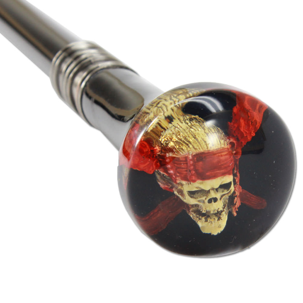 Pirate Skull Head Walking Cane Sword