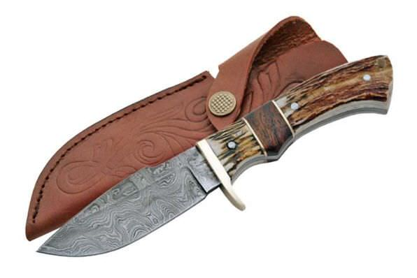 Real DAMASCUS Steel Hunting Knife DM1022