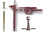 """Robin hood's Sword with Scabbard belt & Pouch 40"""""""