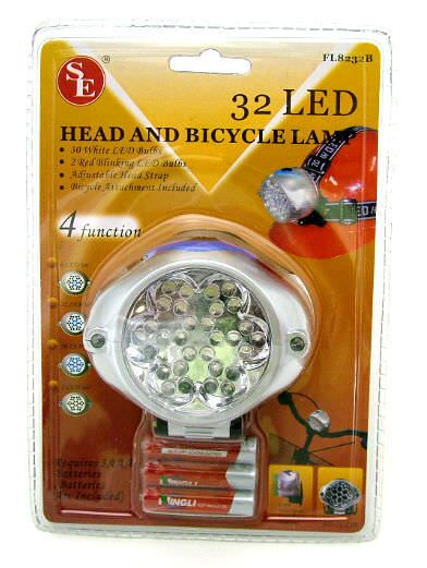 32 Bulb Head & Bicycle Led Light FL8232B
