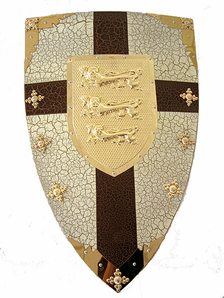 Three Lion Medieval Shield 28""